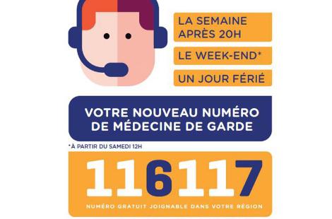 116 117 nouveau numéro de médecine de garde