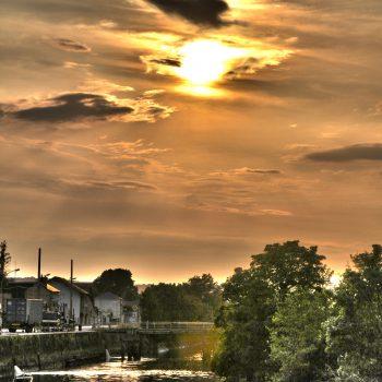 Coucher de soleil port ©G.Alleaume