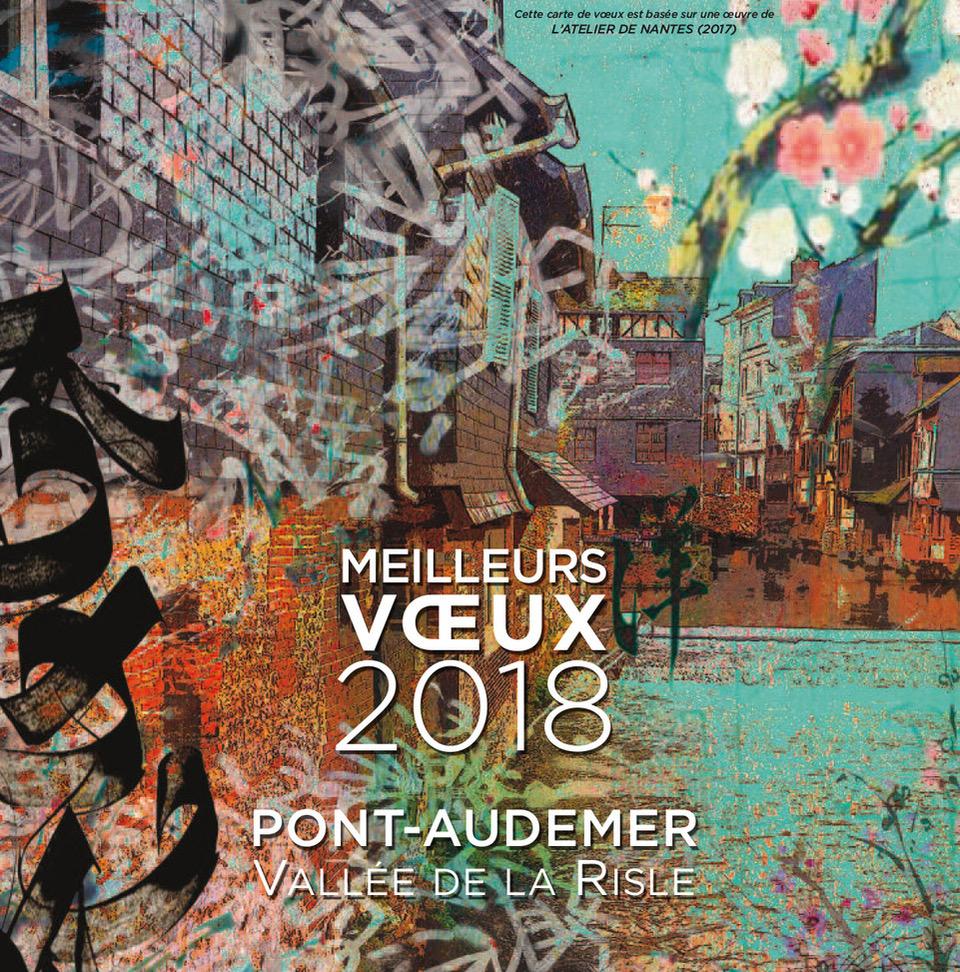 Meilleurs voeux 2018 Pont-Audemer Vallée de la Risle